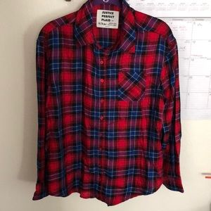 Justice plaid flannel